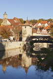 Kocher River and Old Town, Schwaebisch Hall, Hohenlohe, Baden Wurttemberg, Germany, Europe Photographic Print by Markus Lange