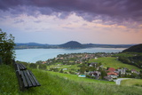 Elevated View over Picturesque Weyregg Am Attersee Illuminated at Dawn, Attersee, Salzkammergut Photographic Print by Doug Pearson