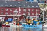 Commercial Fishing and Whaling Boats Line the Busy Inner Harbour in the Town of Ilulissat Photographic Print by Michael Nolan