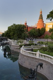 Alexander Gardens and the Kremlin, Moscow, Russia, Europe Photographic Print by Martin Child