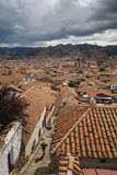 View over the Rooftops of Cuzco from San Blas Neighbourhood, Peru, South America Photographic Print by Yadid Levy