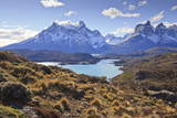 Grasses, Lago Pehoe and the Cordillera Del Paine, Torres Del Paine National Park Photographic Print by Eleanor Scriven