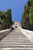 Stairway to Calvary with Chapel, Pollenca, Majorca (Mallorca) Photographic Print by Markus Lange