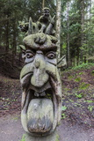 Wood Carvings from Traditional Folklore at the Hill of Witches on the Dano River Photographic Print by Michael Nolan
