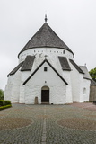 Exterior View of the 13th Century Circular Design Osterlars Church, Bornholm, Denmark Photographic Print by Michael Nolan