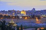 Neil Farrin - View of Jerusalem, from the Mount of Olives, Jerusalem, Israel, Middle East - Fotografik Baskı