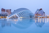 The Hemsiferic and El Palau De Les Arts Reina Sofia in the City of Arts and Sciences, Valencia Photographic Print by Julian Elliott