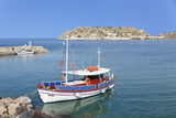 View from Plaka to Spinalonga Island (Kalidon), Former Leper Colony, Gulf of Mirabello Photographic Print by Markus Lange