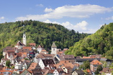 Old Town with Stiftskirche Heilig Kreuz Collegiate Church, Horb Am Neckar, Black Forest Photographic Print by Marcus Lange