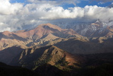 The High Atlas Mountains with a Dusting of Winter Snow on the Higher Peaks Photographic Print by Lee Frost