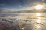 Freezing Dawn Mists, Yellowstone Lake at West Thumb Geyser Basin, Yellowstone National Park Photographic Print by Eleanor Scriven
