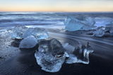 Jokulsa Beach at Sunrise, on the Edge of the Vatnajokull National Park, South Iceland Photographic Print by Lee Frost