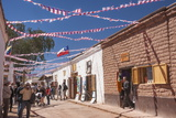 Locals Celebrating September 18 Independence Day Holiday with Bbq, Flags and Streamers, San Pedro Photographic Print by Kimberly Walker