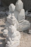 Statues of Buddha in Stone to Be Finished, Stone Carvers and Masons District, Mandalay City Photographic Print by Stephen Studd