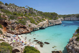 Bay and Beach Cala D'Es Moro, Near Cala S'Amonia Bay, Santanyi Photographic Print by Markus Lange