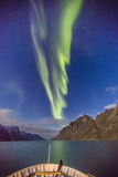 The Aurora Borealis in Kangerlussuaq Fjord, Greenland, Polar Regions Photographic Print by Michael Nolan