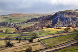 Stainforth Scar from Langcliffe Near Settle, Yorkshire Dales, Yorkshire, England Photographic Print by Mark Sunderland