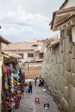 Shops Along the The Inca Wall at Hathunrumiyoq Street Photographic Print by Yadid Levy