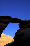 Jebel Umm Fruth Rock Bridge, Wadi Rum, Jordan, Middle East Photographic Print by Neil Farrin