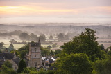 St. Lawrence Church and Misty Sunrise, Bourton-On-The-Hill, Gloucestershire Photographic Print by Matthew Williams-Ellis