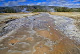 Grand Geyser Run-Off, Upper Geyser Basin, Yellowstone National Park, Wyoming, Usa Photographic Print by Eleanor Scriven