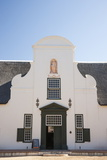 Dutch Colonial White Building at Groot Constantia Winery Estate Photographic Print by Kimberly Walker