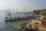 Yachts and Ships at Anchor, Fiskardo, Kefalonia (Cephalonia) Photographic Print by Eleanor Scriven