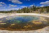 Chromatic Pool and Surrounds on a Clear Day, Upper Geyser Basin, Yellowstone National Park Photographic Print by Eleanor Scriven