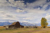 Mormon Row Barn with Teton Range in Autumn (Fall), Antelope Flats, Grand Teton National Park Photographic Print by Eleanor Scriven
