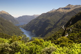 View over Deep Cove, Doubtful Sound, Fiordland National Park, South Island, New Zealand, Pacific Photographic Print by Stuart Black