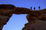 Jebel Umm Fruth Rock Bridge, Wadi Rum, Jordan, Middle East Photographic Print by Neil Farrin