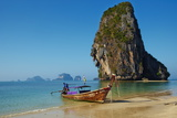 Ao Phra Nang Bay, Railay Beach, Hat Tham Phra Nang Beach, Krabi Province, Thailand Photographic Print by Tuul