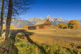 Mormon Row Barn on a Clear Autumn (Fall) Morning, Antelope Flats, Grand Teton National Park Photographic Print by Eleanor Scriven