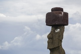 Preserved Original Moai in the Tahai Archaeological Zone Photographic Print by Michael Nolan