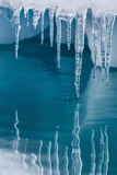 Icicles Mirrored in Calm Water from Ice Floating in the Neumayer Channel Near Wiencke Island Photographie par Michael Nolan