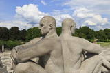 Back to Back, Detail of a Sculptural Group on the Monolith Plateau by Gustav Vigeland, Frogner Park Photographic Print by Eleanor Scriven