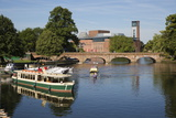 Boats on the River Avon and the Royal Shakespeare Theatre, Stratford-Upon-Avon, Warwickshire Photographic Print by Stuart Black