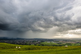 Looking Out from Cleve Hill as a Storm Crosses the Severn Vale, Cheltenham, Gloucestershire Photographic Print by Matthew Williams-Ellis