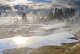 Freezing Mists and Thermal Features, Dawn, West Thumb Geyser Basin Photographic Print by Eleanor Scriven