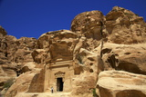 Tourist at Little Petra, UNESCO World Heritage Site, Jordan, Middle East Photographic Print by Neil Farrin