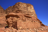 Remains of T E Lawrence's House, Wadi Rum, Jordan, Middle East Photographic Print by Neil Farrin