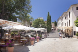 Street Cafes and Restaurant at Market Place Placa Major, Pollenca, Majorca Photographic Print by Markus Lange
