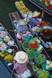 Floating Market, Damnoen Saduak, Ratchaburi Province, Thailand, Southeast Asia, Asia Fotografisk trykk av Tuul
