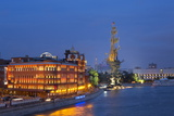 Peter the Great Statue and River Moskva at Night, Moscow, Russia, Europe Photographic Print by Martin Child