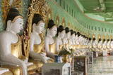 The 45 Buddha Statues in Cave at Pilgrimage Site, Umin Thounzeh Pagoda, Sagaing Hill Photographic Print by Stephen Studd