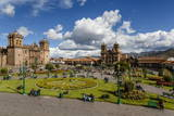 Plaza De Armas with the Cathedral and Iglesia De La Compania De Jesus Church, Cuzco, Peru Photographic Print by Yadid Levy