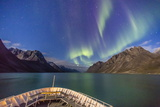 The Aurora Borealis in Kangerlussuaq Fjord, Greenland, Polar Regions Photographic Print by Michael Nolan