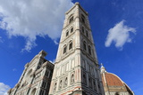 Giotto Bell Tower and Santa Maria Del Fiore Cathedral (Duomo), Florence, Tuscany, Italy, Europe Photographic Print by Vincenzo Lombardo