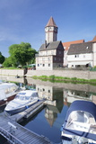 Spitzer Turm Tower, Tauber River, Old Town of Wertheim Photographic Print by Markus Lange