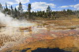 Colourful Thermal Features, Upper Geyser Basin, Yellowstone National Park, Wyoming, Usa Photographic Print by Eleanor Scriven